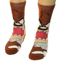 Looney Tunes Tasmanian Devil Lil Taz Crazy Photo Real Men's Crew Socks