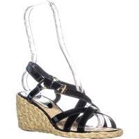 Lauren Ralph Lauren Chrissy Wedge Sandals, Black