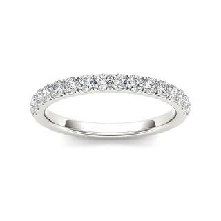Link to De Couer 14k White Gold 1/2ct TDW Diamond Wedding Band Similar Items in Wedding Rings