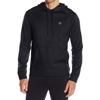 Champion NEW Black Mens Size XL Hooded Performance Fleece Sweater