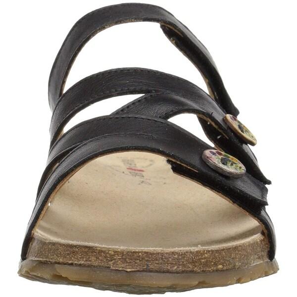 Haflinger Womens Sabrina Open Toe Casual Slide Sandals