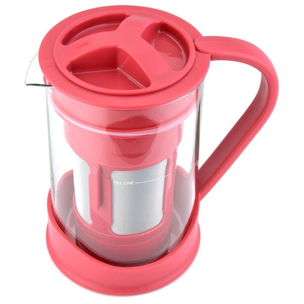 Spigo Cold Brew Coffee Maker With Borosilicate Glass Pitcher 1 Liter 8x5 Inches On Sale Overstock 19874280