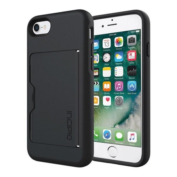 Incipio STOWAWAY Wallet Case for iPhone 7 - Black/Black