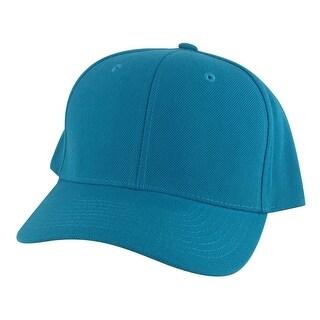1015 Series High Crown Acrylic Curved Bill Snapback Cap Hat - Aqua Teal