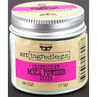 Finnabair Art Ingredients Mica Powder .6oz-Green Opal Magic