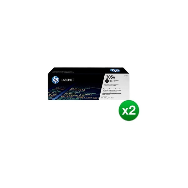 HP 305A Black Original LaserJet Toner Cartridge (CE410A)(2-Pack)