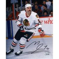 Michel Goulet Blackhawks Skating Action 8x10 Photo