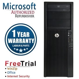 Refurbished HP Z210 Tower Intel Xeon E3-1240 3.3G 8G DDR3 1TB DVDRW NVS300 Win 7 Pro 1 Year Warranty