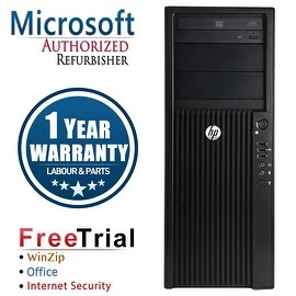 Refurbished HP Z210 Tower Intel Xeon E3-1240 3.3G 8G DDR3 320G DVDRW NVS300 Win 10 Pro 1 Year Warranty