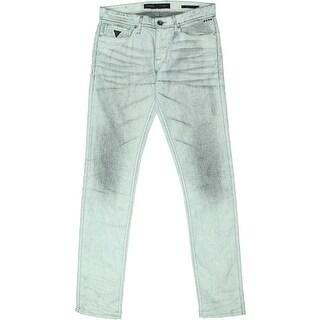 Guess Mens Slim Taper Coated Low Rise Jeans - 30