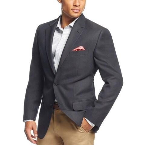 Andrew Fezza Mens Classic Fit 2 Button Sportcoat Blazer Navy Blue Neat
