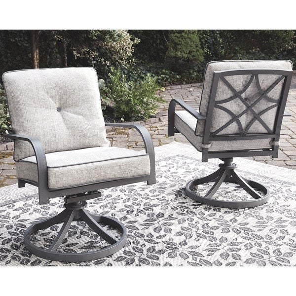 Donnalee Bay Outdoor Dark Gray Swivel Lounge Chair (Set of 2). Opens flyout.