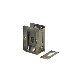 "Richelieu 1701-PSBC  3-1/4"" x 2-1/4"" Flush Rectangular Privacy Pocket Door Lock"