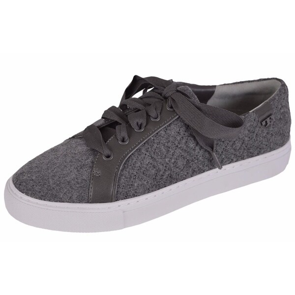 5e7817852 Shop Tory Burch Women s Marion Quilted Grey Felt T Logo Sneakers Shoes SIZE  8 - On Sale - Free Shipping Today - Overstock - 12189823