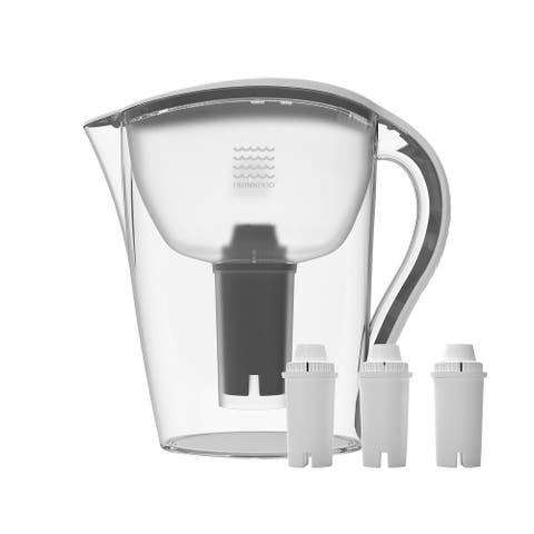 Drinkpod Ultra Premium Alkaline Water Pitcher 3.5L Capacity Includes 3 Filters