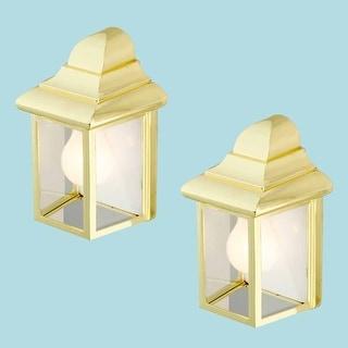 2 Outdoor Lighting Bright Brass Light