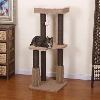 """Link to Petpals-BALMY - 3 LVL, CAT TREE, BGE, 15x15x39"""" Similar Items in Cat Toys & Tunnels"""