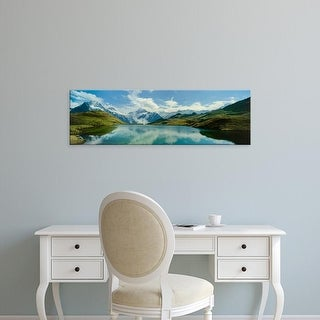 Easy Art Prints Panoramic Image 'Clouds, mountains, Bachalpsee, Grindelwald, Bernese Oberland, Switzerland' Canvas Art