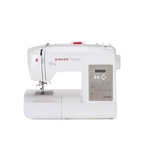 Singer Sewing 6180 Brilliance Portable Sewing Machine, White/Gray (230061112)