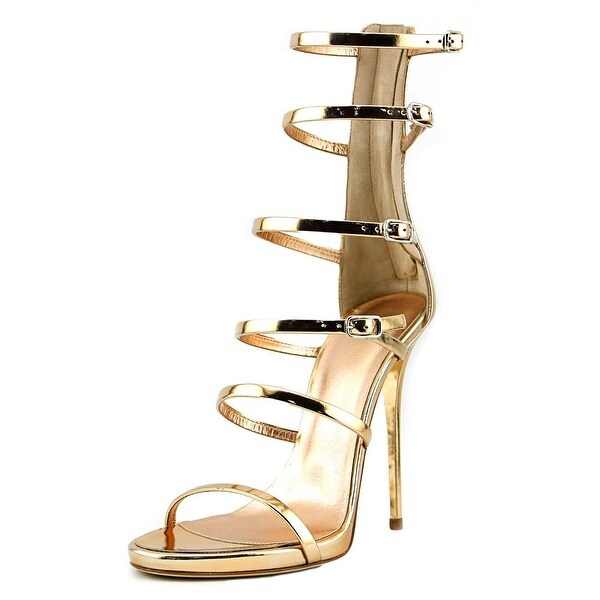 83ed7c6936e9eb Shop Giuseppe Zanotti Alien 115PL Women Open Toe Leather Gold ...