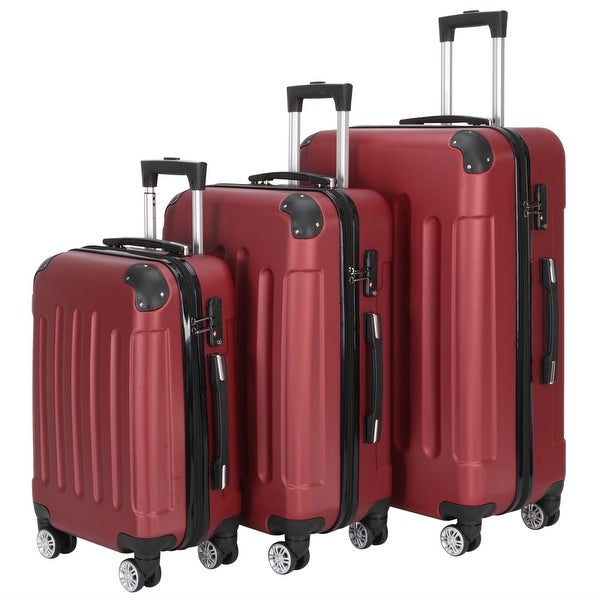 Large Capacity Traveling Storage Suitcase Trolley Case Luggage Set of 3. Opens flyout.