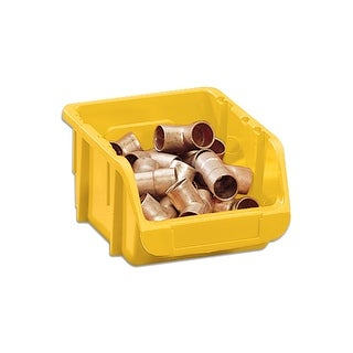 Stack-On BIN-1507 Small Parts Storage Organizer Bin, Yellow