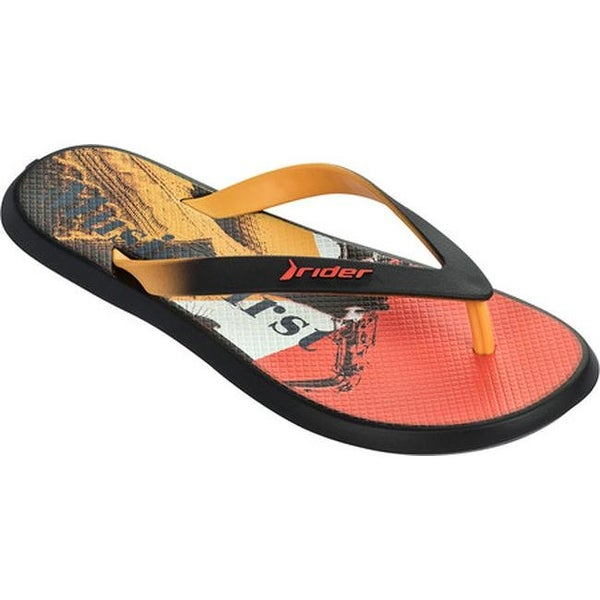 4e9ed771a2fde0 Shop Rider Men s R1 Energy VI Thong Sandal Black Yellow Orange - Free  Shipping On Orders Over  45 - Overstock - 14667528