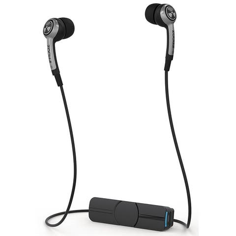 iFrogz IFPLGW-SV0 Audio Plugz Wireless Bluetooth Earbud, Black and Silver