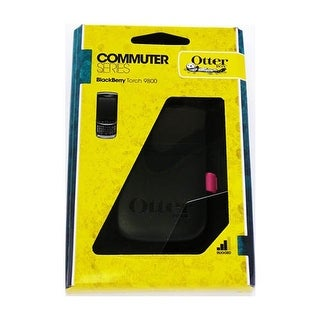 Otterbox - Commuter Case for BlackBerry Torch 9800 Cell Phones - Hot Pink/Black