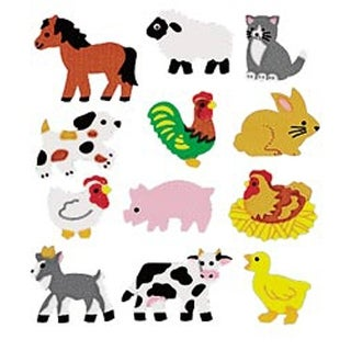 Farm Animals - Sandylion Classpak Stickers 3/Pkg