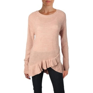 Ivanka Trump Womens Pullover Sweater Knit Ruffled
