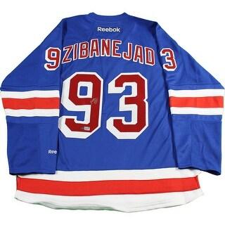 MikaZibanejad New York Rangers Blue Premier Jersey
