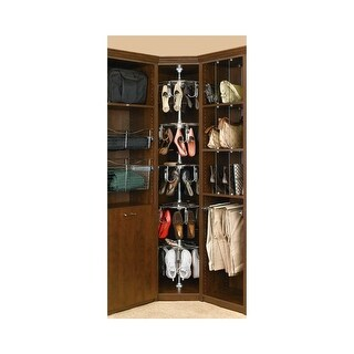 Rev-A-Shelf CLSZ-W5-96-1 5 Shelf Women's Lazy Shoe-Zen Organizer with Closet Shaft - CHROME - N/A