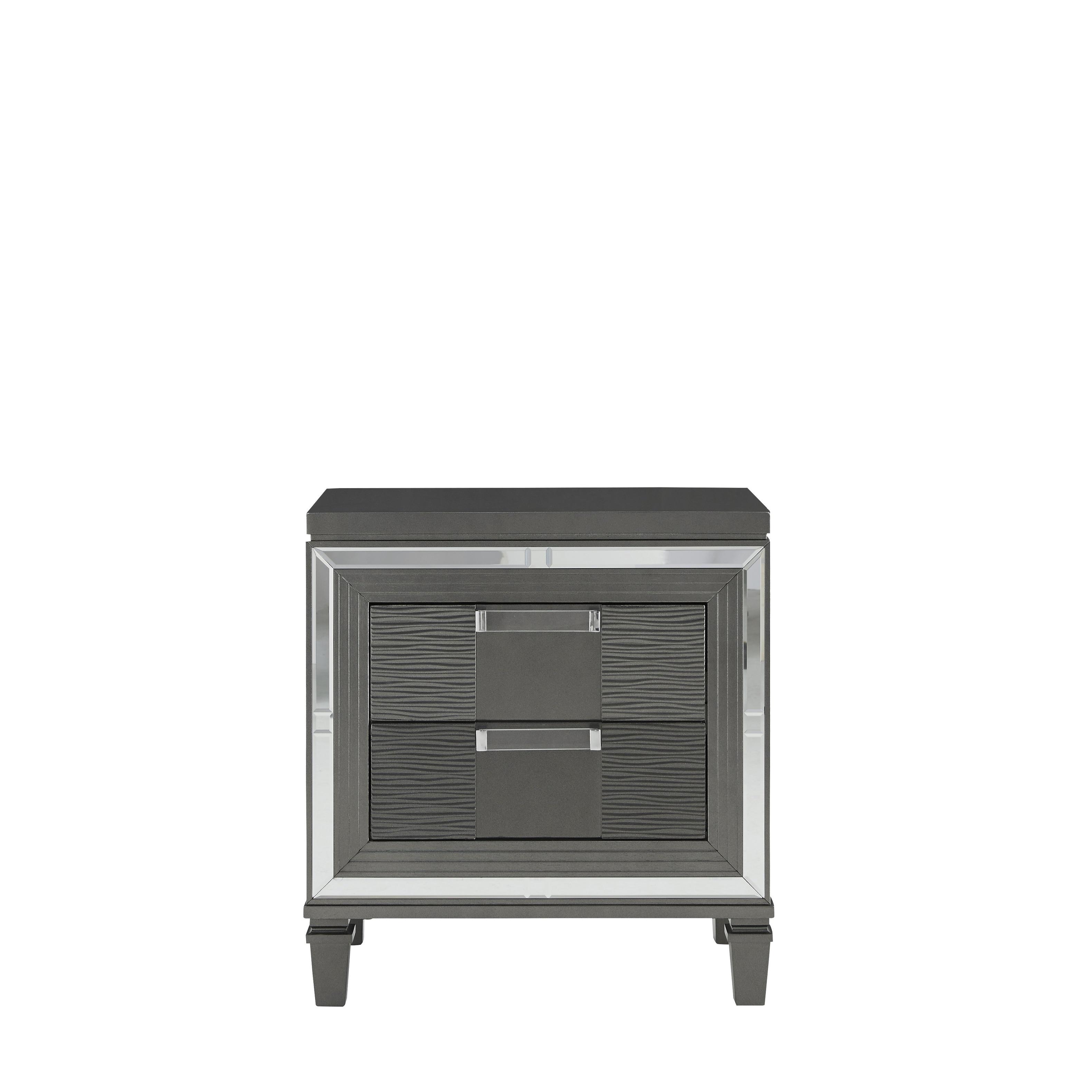 Global Furniture Palermo Metallic Grey Nightstand Overstock 25558615