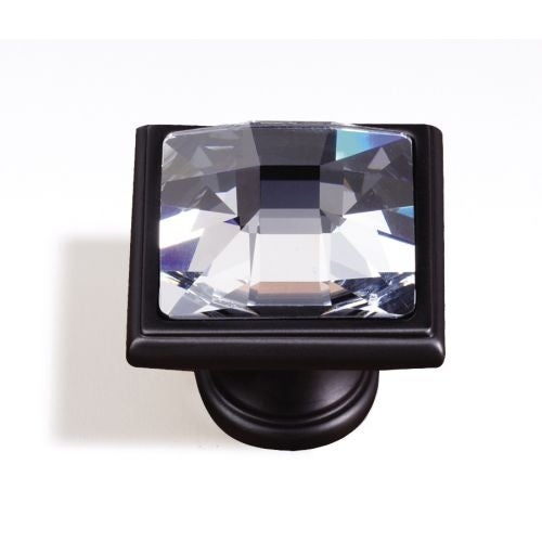 Alno C212 Crystal 1-1/4 Inch Square Cabinet Knob