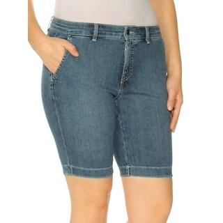 Womens Blue Bermuda Short Petites Size 4