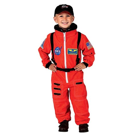 Orange Nasa Astronaut Suit With Embroidered Cap Size 6-8