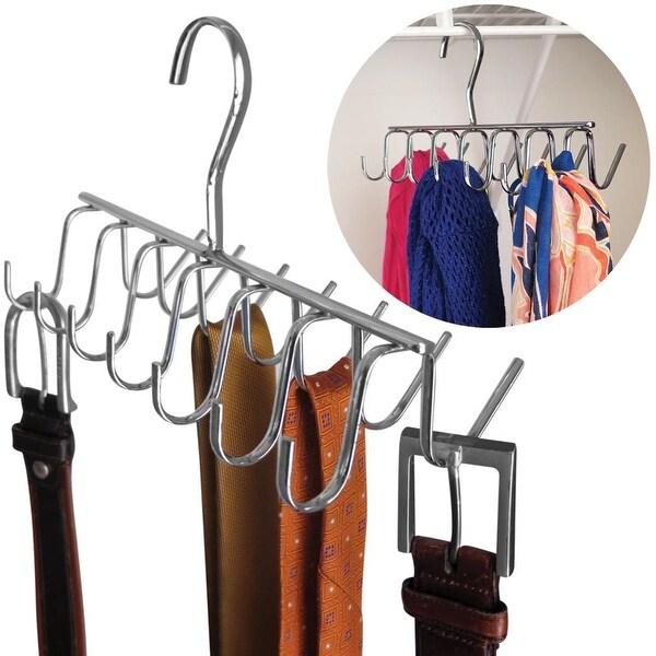 Evelots Tie, Belt, Scarf,jewelry Rack-Hanger-Closet Organizer-Chrome-14 Hooks. Opens flyout.