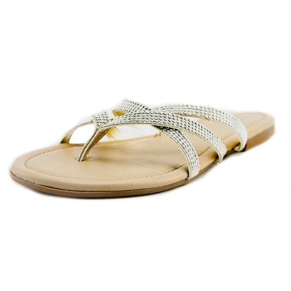 143 Girl Primotoo Women Open Toe Synthetic Silver Flip Flop Sandal