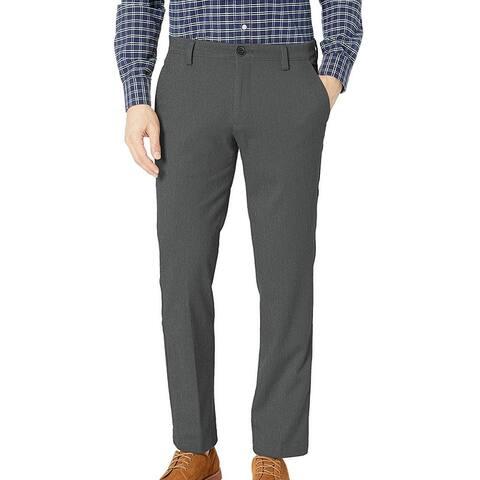 Dockers Mens Easy Khaki Pants Storm Gray Size 42x30 Straight Fit Stretch