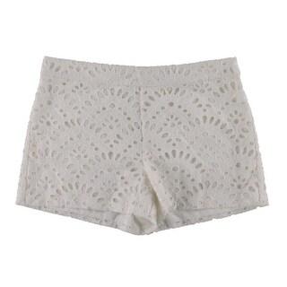 Alice + Olivia Womens Exposed Back Zipper Eyelet Dress Shorts - 6