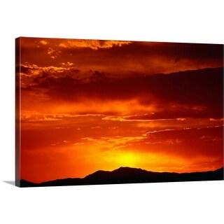 """""""Elephant Butte, Chihuahuan Desert at sunset"""" Canvas Wall Art"""