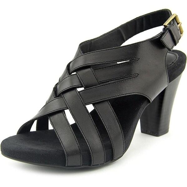 Giani Bernini Justyne Women Open Toe Leather Green Sandals