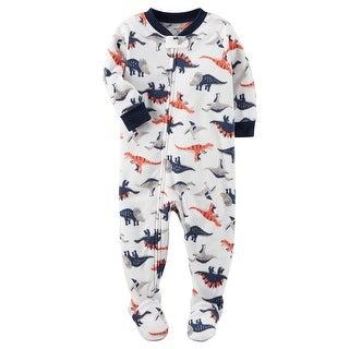 Carter's Little Boys' 1 Piece Dinosaur Fleece Pajamas, 4-Toddler