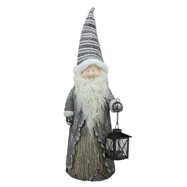 """27"""" Country Rustic Santa with Lantern Christmas Table Top Decoration"""