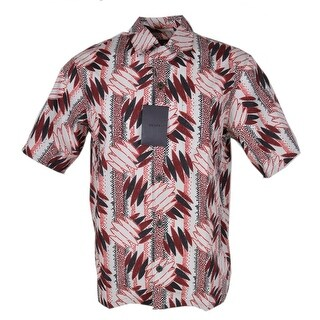 Prada Men's UCS280 Camacia Popeline Wallpaper Amaranto Dress Shirt (2 options available)