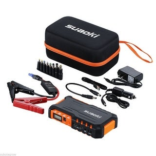 18000mAh 2USB Multi-Function Car Jump Starter Power Bank Rechargable Battery 12V