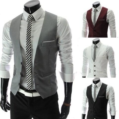 Korean men's suit collar vest metrosexual man