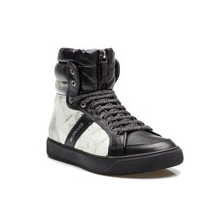 MONCLER Men's Snow Down Quilt High Top Sneaker White