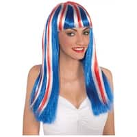 Long Patriotic Wig Adult Costume Accessory